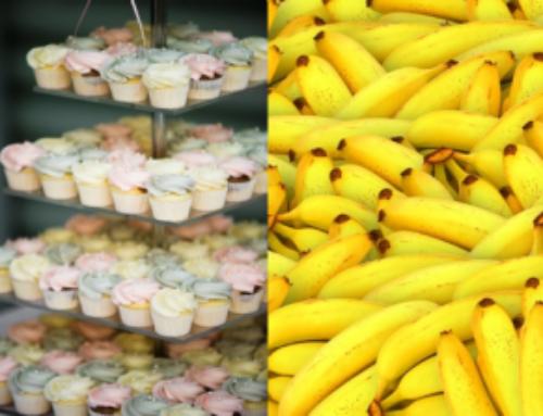 100 x bruidstaarten en bananen